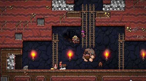 عکس از راهنمای کنترلر و کیبورد در بازی Spelunky 2
