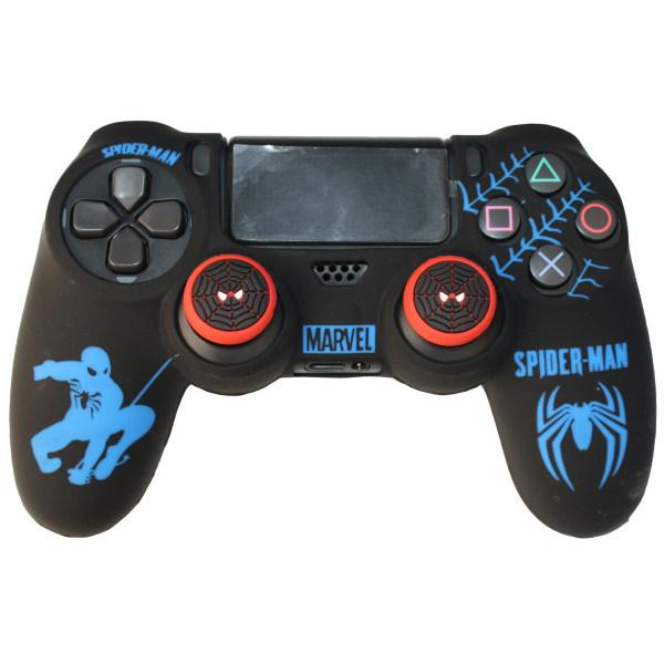 محافظ دسته بازی پلی استیشن 4 مدل spiderman کد 2021 به همراه روکش آنالوگ