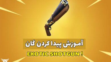 عکس از آموزش گرفتن Exotic Shotgun در سیزن 5 فورتنایت
