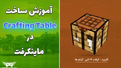 عکس از آموزش ساخت Crafting Table در ماینکرفت